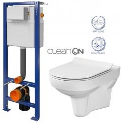 CERSANIT nádržka AQUA 02 bez tlačidla + WC CERSANIT CITY NEW CLEANON + WC SEDENIE SLIM (S97-063 CI2)