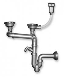 NOVASERVIS - Sifon drezový otvor 89mm prepadu z drezu plast (NSP620), fotografie 2/2