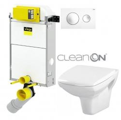 VIEGA Presvista modul PURE pre WC vrátane tlačidla Style 20 bielej + WC CERSANIT CLEANON CARINA + SEDADLO (V771928 STYLE20BI CA1)