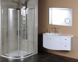 SAPHO - AILA umývadlová skrinka 110x39cm, biela/strieborná, zásuvky vpravo vč.umyvadla Isobel 55602 (55622-SET), fotografie 14/8