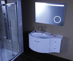 SAPHO - AILA umývadlová skrinka 110x39cm, biela/strieborná, zásuvky vpravo vč.umyvadla Isobel 55602 (55622-SET), fotografie 16/8