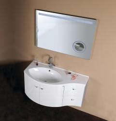 SAPHO - AILA umývadlová skrinka 110x39cm, biela/strieborná, zásuvky vpravo vč.umyvadla Isobel 55602 (55622-SET), fotografie 10/8