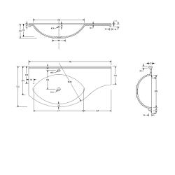 SAPHO - AILA umývadlová skrinka 110x39cm, biela/strieborná, zásuvky vpravo vč.umyvadla Isobel 55602 (55622-SET), fotografie 6/8