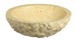 SAPHO - BLOK kamenné umývadlo 45x15cm, hrubý kameň, svetlý (2401-15)