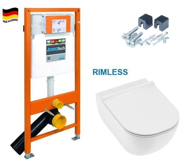 JOMO DUO modul pro závěsné WC bez desky + WC JIKA MIO + SEDÁTKO SLIM (174-91100700-00 IO1)