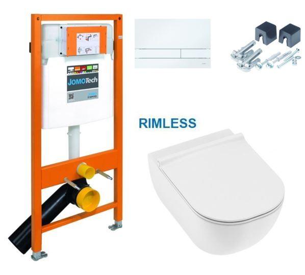 JOMOTech modul pre závesné WC s bielou doskou + WC JIKA MIO + SEDADLO SLIM 174-91100900-00 IO1
