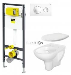 VIEGA Presvista modul DRY pre WC vrátane tlačidla Style 20 bielej + WC CERSANIT ARTECO CLEANON + SEDADLO (V771973 STYLE20BI AT2)