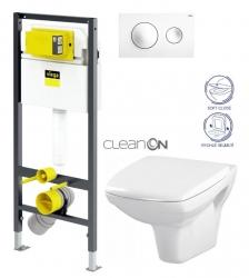 VIEGA Presvista modul DRY pre WC vrátane tlačidla Style 20 bielej + WC CERSANIT CLEANON CARINA + SEDADLO (V771973 STYLE20BI CA2)