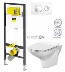 VIEGA Presvista modul DRY pre WC vrátane tlačidla Style 20 bielej + WC CERSANIT CLEANON CARINA + SEDADLO (V771973 STYLE20BI CA3)