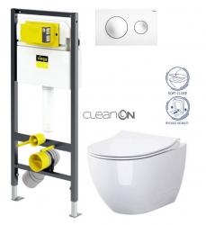 VIEGA Presvista modul DRY pre WC vrátane tlačidla Style 20 bielej + WC CERSANIT ZEN CLEANON + SEDADLO (V771973 STYLE20BI HA1)