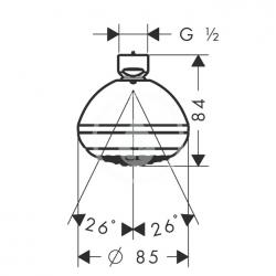 HANSGROHE - Crometta 85 Horná sprcha Green 1jet, chróm (28423000), fotografie 2/2