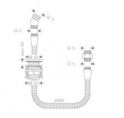 HANSGROHE - Okrajové systémy Držiak sprchy na montáž na okraj vane, chróm (28307000), fotografie 2/1