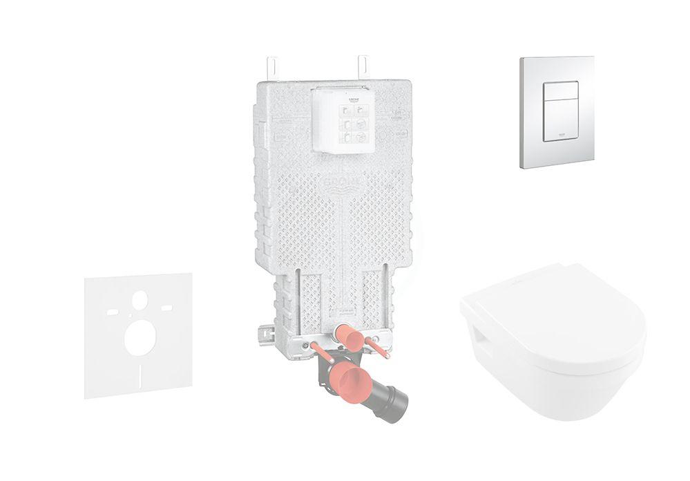 GROHE - Uniset Súprava na závesné WC + klozet a sedadlo Villeroy &Boch 38643SET-KB