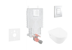 GROHE - Uniset Súprava na závesné WC + klozet a sedadlo Villeroy &Boch (38643SET-KB)