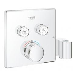 GROHE - Grohtherm SmartControl Termostatická vaňová batéria pod omietku, s dvoma ventilmi a držiakom na sprchu, chróm (29125000)
