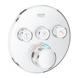 GROHE - Grohtherm SmartControl Termostatická sprchová podomietková batéria, 3 ventily, chróm (29121000)