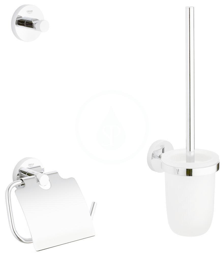 GROHE - Essentials Súprava doplnkov na toaletu 3 v 1, chróm 40407001