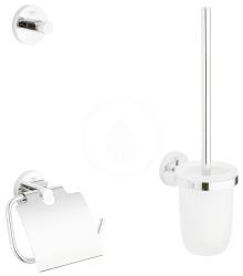 GROHE - Essentials Súprava doplnkov na toaletu 3 v 1, chróm (40407001)
