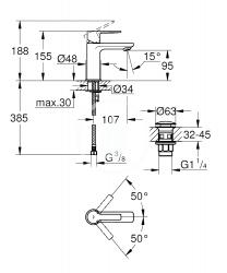 GROHE - Lineare Páková umývadlová batéria XS, chróm (23791001), fotografie 2/1