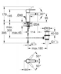GROHE - Lineare Páková bidetová batéria S, chróm (33848001), fotografie 2/1
