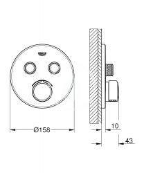 GROHE - SmartControl Batéria pod omietku s 2 výstupmi, chróm (29145000), fotografie 2/1