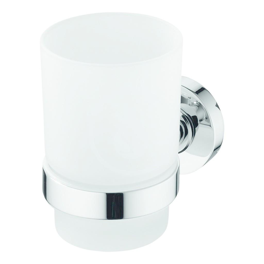 IDEAL STANDARD - IOM Kelímek na zubní kartáček, satinované sklo, chrom (A9120AA)
