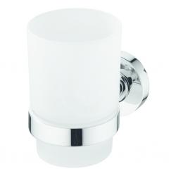 IDEAL STANDARD - IOM Téglik na zubnú kefku, satinované sklo, chróm (A9120AA)
