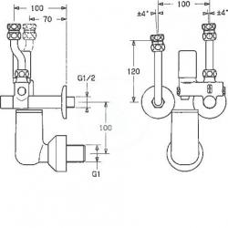 HANSA - Příslušenství Poistná skupina na tlakové, pevné teplovodné bojlery do 200 l, chróm (63202350), fotografie 2/2