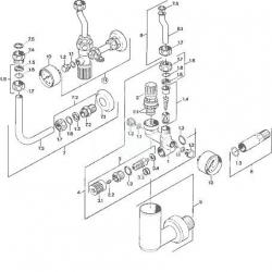HANSA - Příslušenství Poistná skupina na tlakové, pevné teplovodné bojlery do 200 l, chróm (63202350), fotografie 4/2