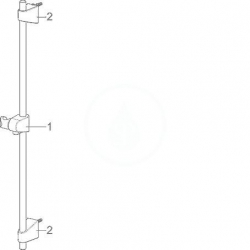 HANSA - Basicjet Sprchová súprava s nástennou tyčou 720 mm, chróm (44780113), fotografie 4/3