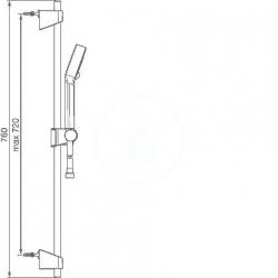 HANSA - Basicjet Sprchová súprava s nástennou tyčou 720 mm, chróm (44780233), fotografie 6/3
