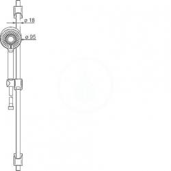 HANSA - Basicjet Sprchová súprava s nástennou tyčou 720 mm, chróm (44780233), fotografie 2/3