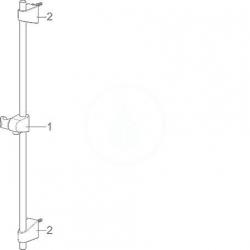 HANSA - Basicjet Sprchová súprava s nástennou tyčou 720 mm, chróm (44780233), fotografie 4/3