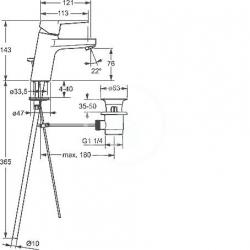 HANSA - Twist Páková umývadlová batéria, chróm (09092183), fotografie 4/2