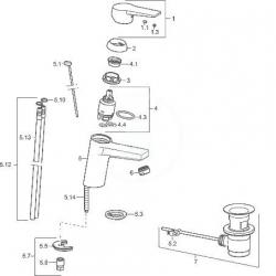 HANSA - Twist Páková umývadlová batéria, chróm (09092183), fotografie 2/2