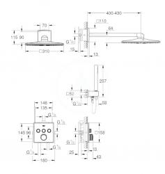 GROHE - Grohtherm SmartControl Perfect Sprchová súprava s termostatom pod omietku, 310 mm, chróm (34706000), fotografie 10/5