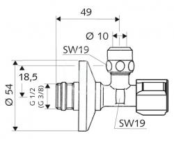 SCHELL - Comfort Rohový regulačný ventil s jemným filtrom, chróm (054280699), fotografie 4/2