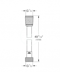 GROHE - Hadice Sprchová hadica Relexaflex, 1250 mm, chróm (28150001), fotografie 2/2