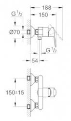 GROHE - Edge Páková sprchová batéria, chróm (23333000), fotografie 2/1
