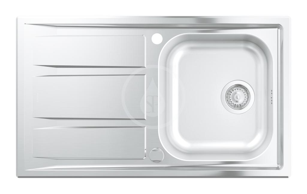 GROHE GROHE - Dřezy Dřez K400+ s automatickým odtokem, 873x513 mm (31568SD0)