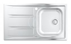 GROHE - Dřezy Drez K400+ s automatickým odtokom, 873mm x 513 mm (31568SD0)