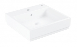 GROHE - Cube Ceramic Umývadlo s prepadom, 500mm x 490 mm, PureGuard, alpská biela (3947400H)