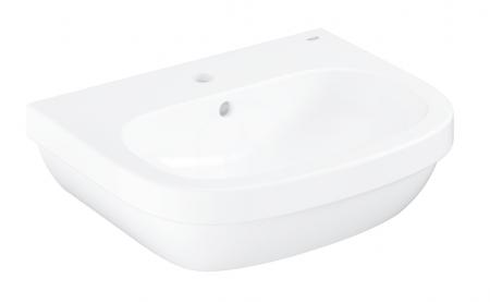 GROHE - Euro Ceramic Umývadlo s prepadom, 550mm x 450 mm, PureGuard, alpská biela (3933600H)