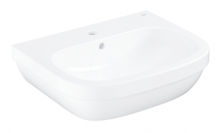 GROHE - Euro Ceramic Umývadlo s prepadom, 600mm x 480 mm, alpská biela (39335000)