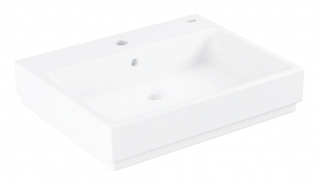 GROHE - Cube Ceramic Umývadlo s prepadom, 600mm x 490 mm, PureGuard, alpská biela (3947700H)