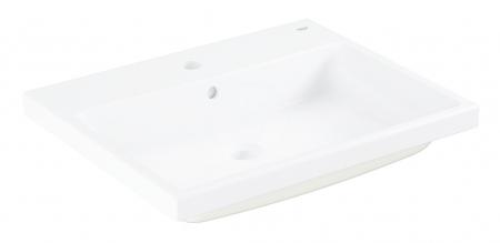 GROHE - Cube Ceramic Umývadlo zápustné, 605mm x 490 mm, PureGuard, alpská biela (3947900H)