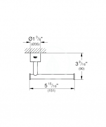 GROHE - Atrio Držiak toaletného papiera, chróm (40313003), fotografie 2/1