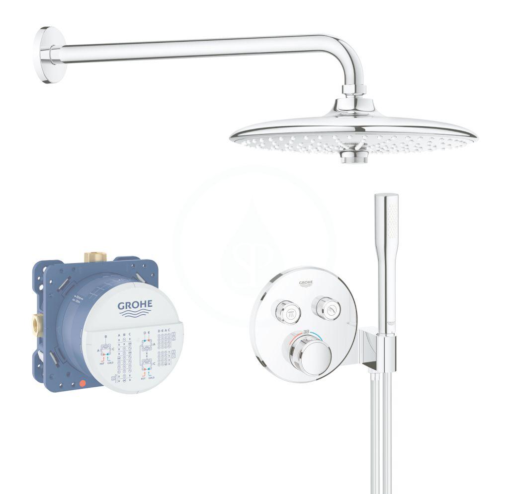 GROHE - Grohtherm SmartControl Sprchová súprava Perfect s podomietkovým termostatom, 260 mm, chróm 34744000