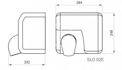 SANELA - Automatické osoušeče Elektrický bezdotykový sušič rúk, kryt z nehrdzavejúcej ocele (SLO 02E), fotografie 2/2