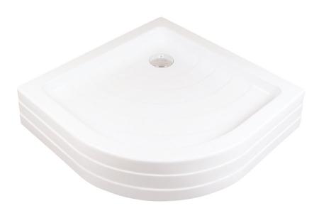 RAVAK - Kaskada Štvrťkruhová sprchová vanička Kaskada, šírka 910 mmx910 mm, rádius 500 mm, biela – vanička, typ PU (A207001120)